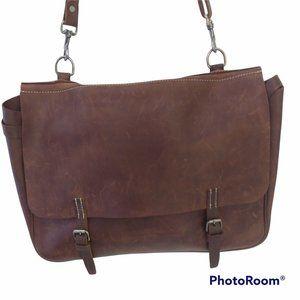 J. Crew Artisan  Leather Messenger Bag